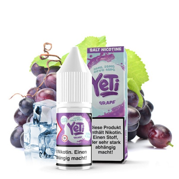 YETI Nic Salt Grape Nikotinsalz Liquid 10 ml