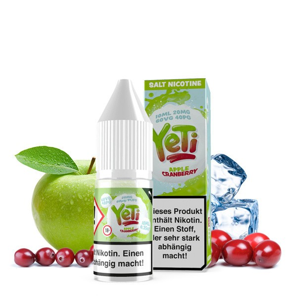 YETI Nic Salt Apple Cranberry Nikotinsalz Liquid 10 ml