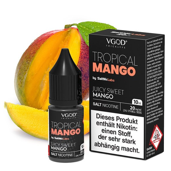 VGOD SALTNIC Tropical Mango Nikotinsalz Liquid 10 ml