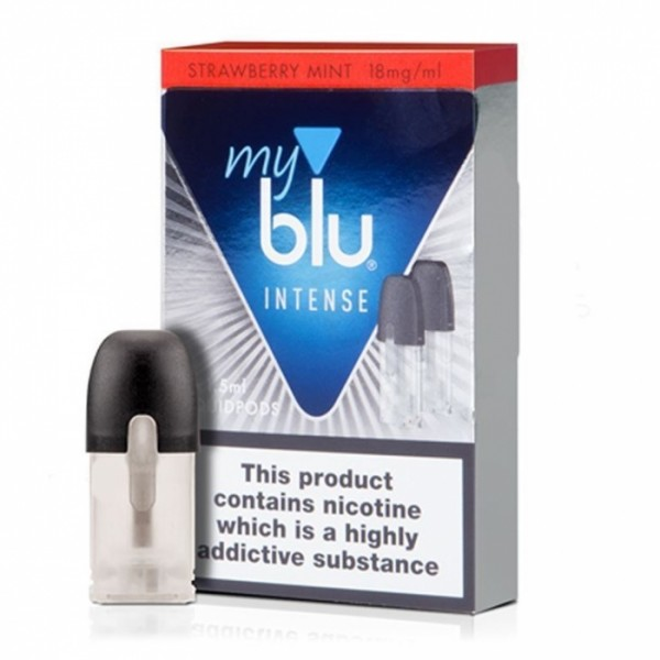 My Blu - POD Strawberry Mint INTENSE (Nikotin Salz) für die MYblu (2er Pack)